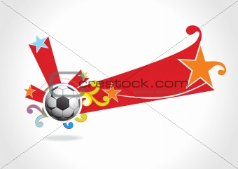 abstract background with football, illustration