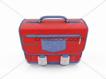 Red school rucksack