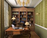 Classic interior. 3D render