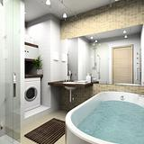 Modern bathroom. 3D render