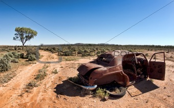 old car in the desert