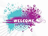 welcome banner, design9