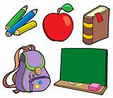 Various school items