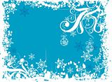 Christmas grunge background, vector