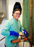 Portrait of Friendly Welder