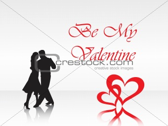 abstract vector background with valentine ornament, design1
