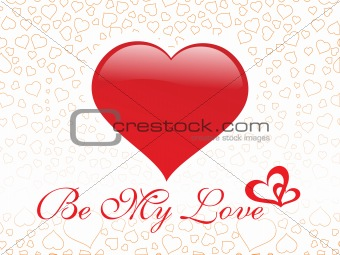 abstract vector background with valentine ornament, design10