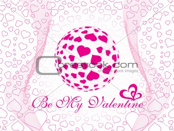 abstract vector background with valentine ornament, design11