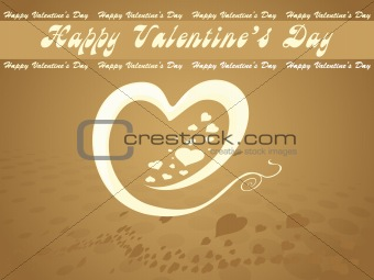 abstract vector background with valentine ornament, design17