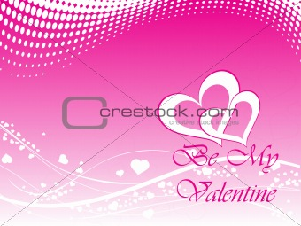 abstract vector background with valentine ornament, design18