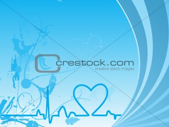 abstract vector background with valentine ornament, design20