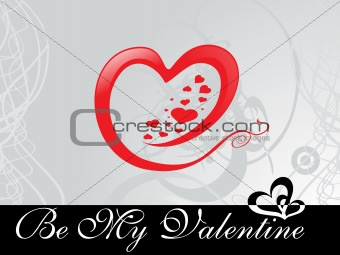 abstract vector background with valentine ornament, design21