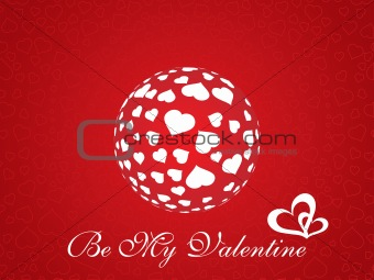 abstract vector background with valentine ornament, design7