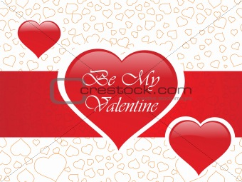 abstract vector background with valentine ornament, design9