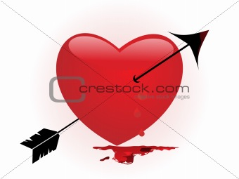 bleeding heart pierced by an arrow