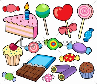Candy and cakes collection