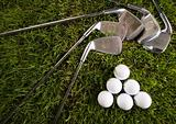 Golf, driver and ball