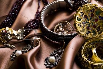 Gemstones background
