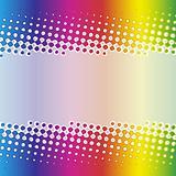 Rainbow halftone banner design