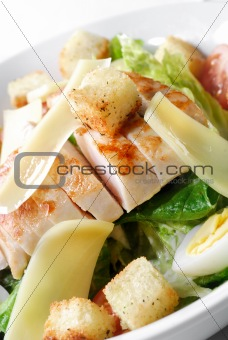 Caesar salad with chicken