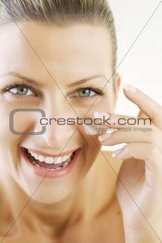 applying face-cream