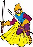 Superhero with sword