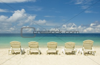 beach with chair