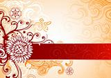 Festive Floral background
