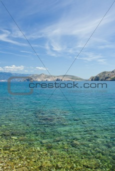 Adriatic sea beach on island Krk