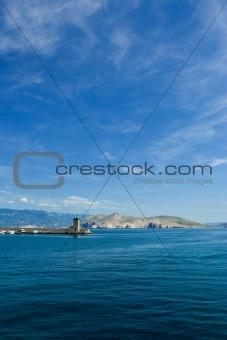 Adriatic sea beach on island Krk
