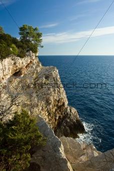 Cliffs on Adriatic sea island