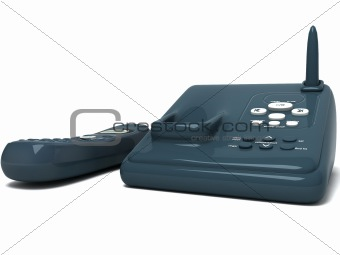 black cordless phone
