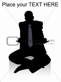 sitting adult businessman