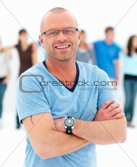 Individuality - Confident man smiling