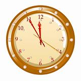 Vector illustration of holiday clock