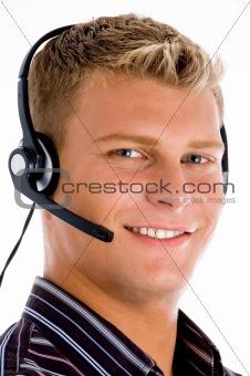 close up of young customer executive