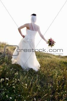 bride against sunset