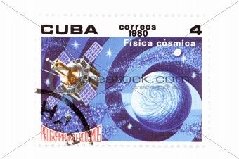 Cuban stamp close up
