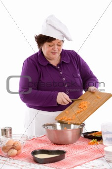 Adding the carrots