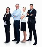 Modern business team standing isolated