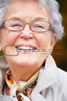Portrait of a happy  elderly woman