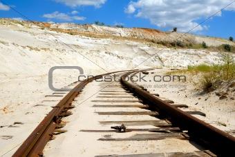 Old rusty railway