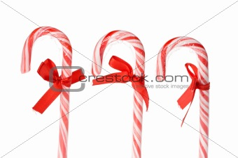 candy canes isolated on white background