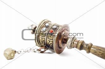 prayer wheels isolated in white