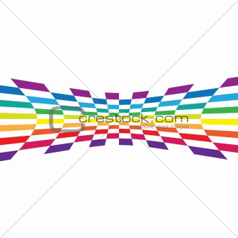 Abstract Rainbow Layout