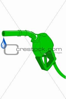 Green gas pump nozzle