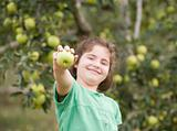 Girl Showing Apple