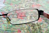 Selective focus on map UK