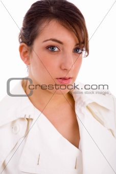 portrait of woman looking at camera