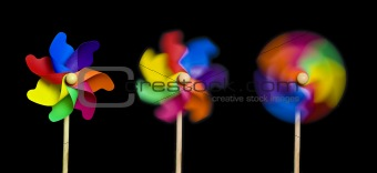 accelerating pinwheels